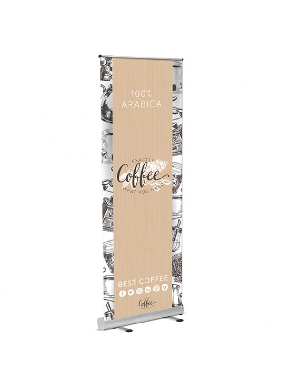 Covid-19 Printed social Distance Eco Roll up Banner 800mmx 1000