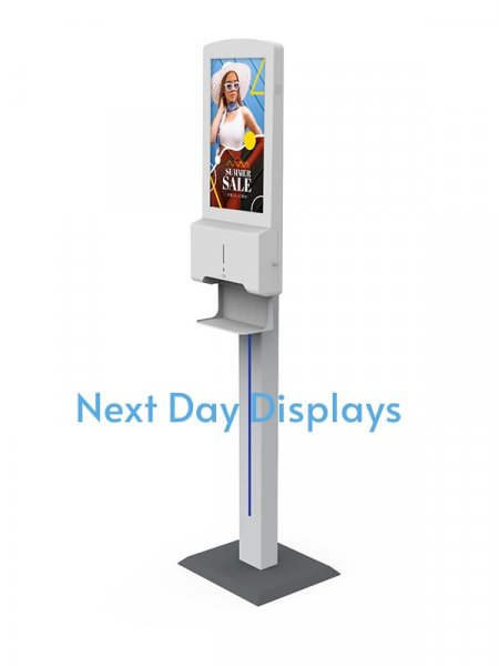 Hand Sanitiser Android Advertising Display (Pedestal Version)