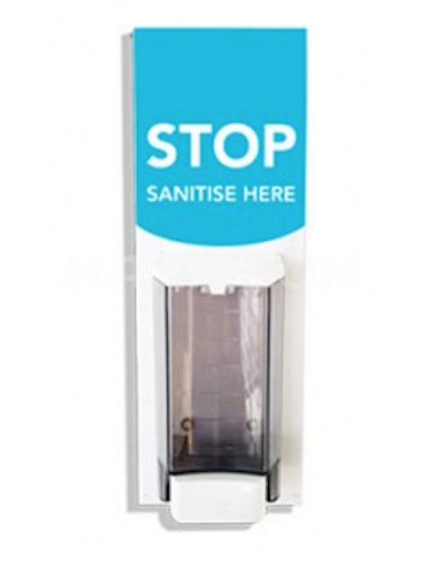 Hand Sanitise Station Wall mounted with printed message