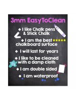 Unframed Easy to Clean A1Chalk Board