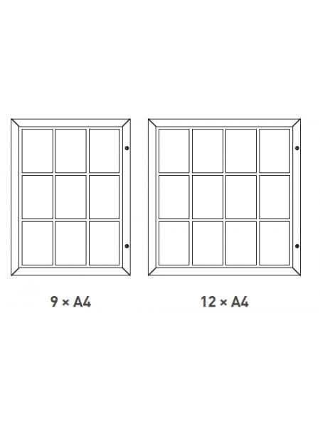Slimlok 3 Noticeboard Magnetic 6 xA4