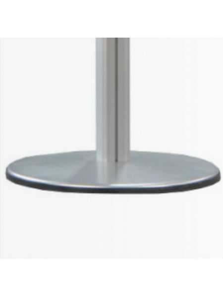 2-channel pole with circular base and domed end cap