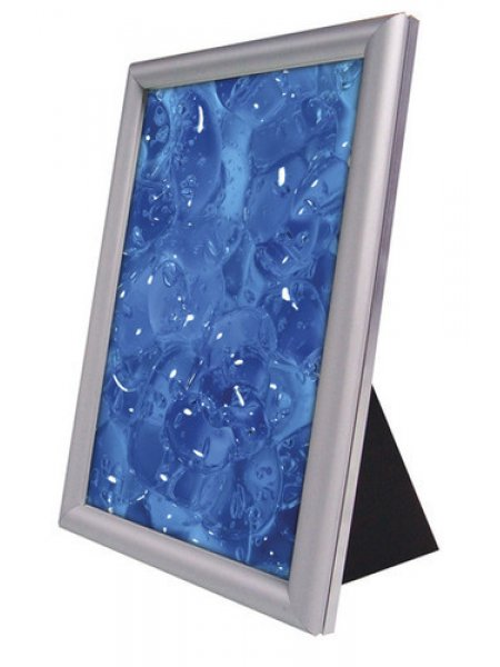 Counter stand A5 silver frame