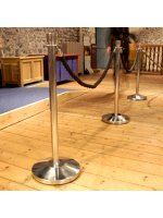 Pole and rope queuing barrier package