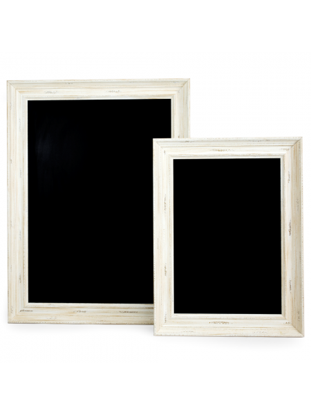 White Framed Chalkboards A1