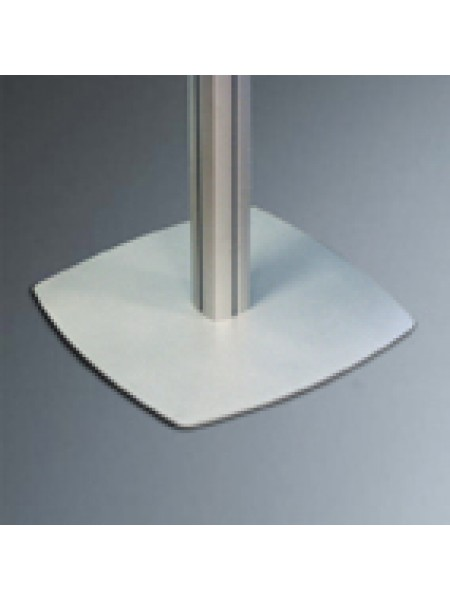 4-channel pole with Sq. base and domed end cap