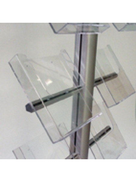 Brochure A4 Acrylic Holders With side-mounting arm