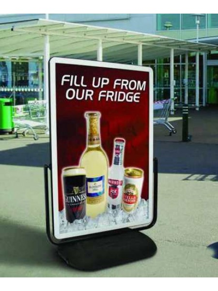 Cyclone 60insx40ins Posters holding  Forecourt Sign
