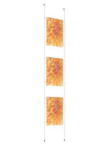 Triple Pocket A4 Poster Rod Kit