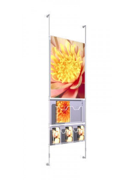 Wall Mounted poster and leaflet system