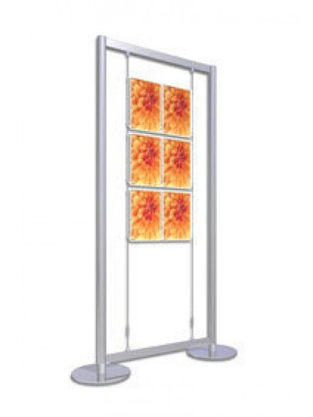 2x3 A4 Portrait Freestanding Poster Display