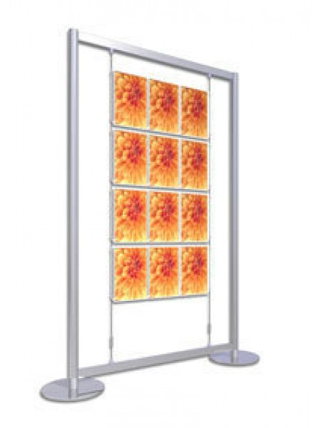4x3 A4 Portrait Freestanding Poster Display