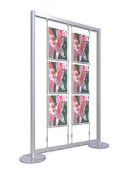 2x3 A3 Portrait Freestanding Poster Display