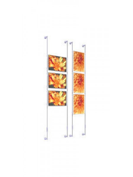 3 A4 Landscape Wall Mounted Cable Kit