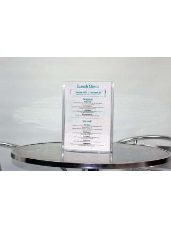 Overture Menu Holder A5 PRICE IS FOR x4