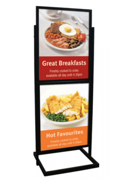500x700 Poster Pillar Info board Black