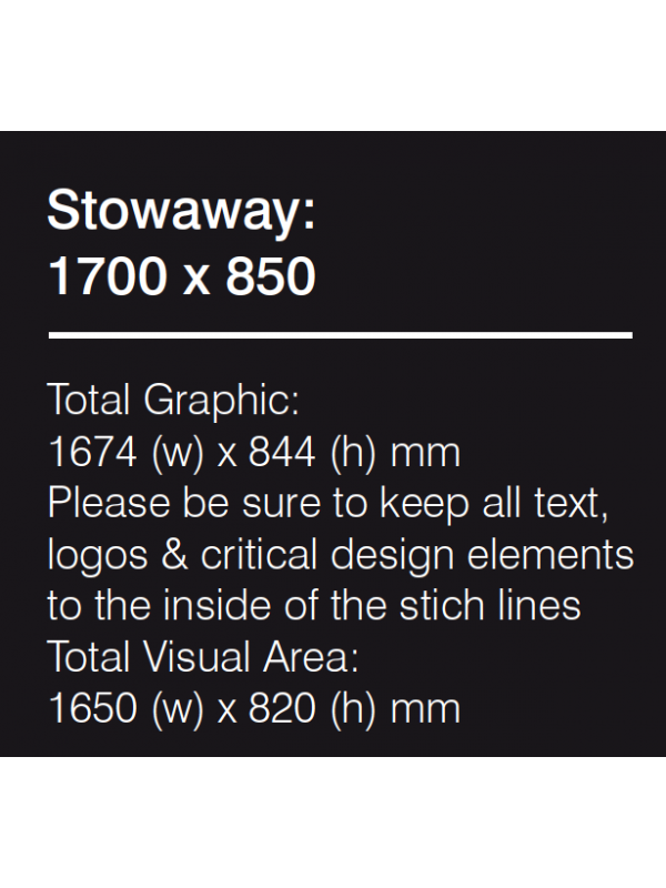 Stowaway Graphic 1400mm PRINTED
