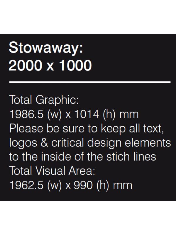 Stowaway Graphic 2000mm PRINTED