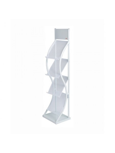 Deluxe White Brochure Stand