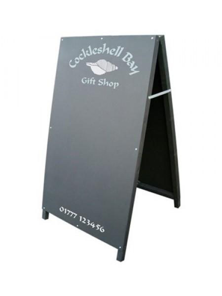 A Frame chalkboards  4ft high