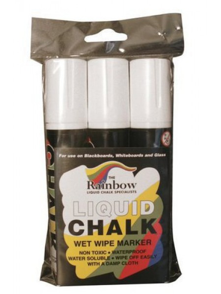 Chalk Pens (Rainbow) White 15mm