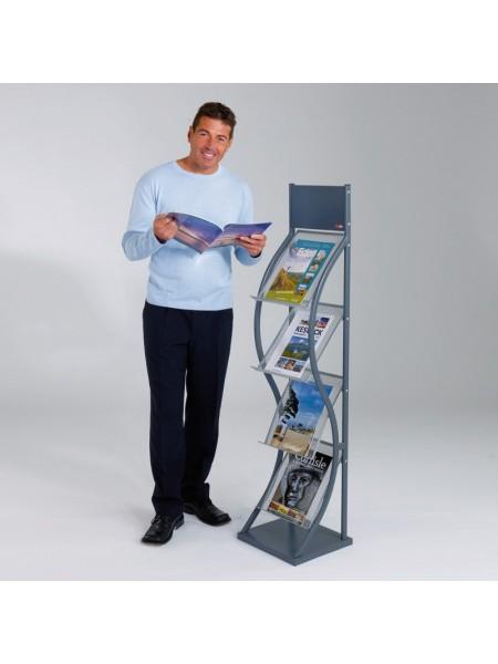 Deluxe GREY  Brochure Stand