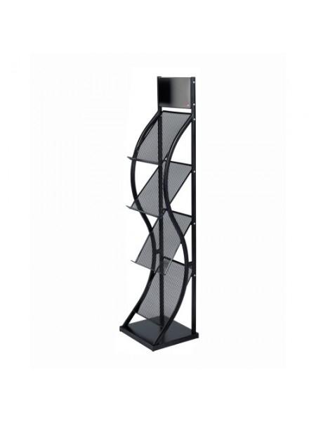 Deluxe BLACK Brochure Stand